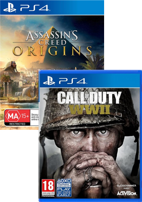Assassins Creed Origins and Call of Duty WWII Bundle PS4