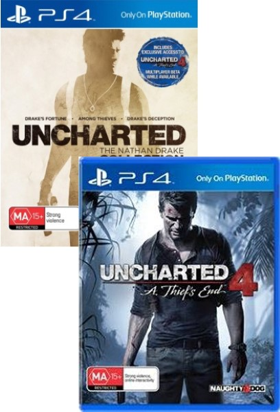 Uncharted 4 A Thiefs End & The Nathan Drake Collection PS4  Bundle