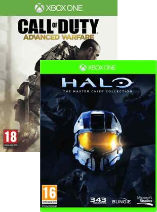 Call Of Duty Advanced Warfare and Halo The Master Chief Collection Xbox One
