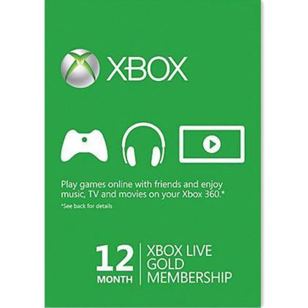 12 Month Xbox Live 1 Year Gold Membership Subscription Digital Code