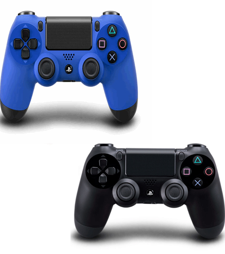 PS4 DualShock 4 Wave Blue & Black Wireless Controller